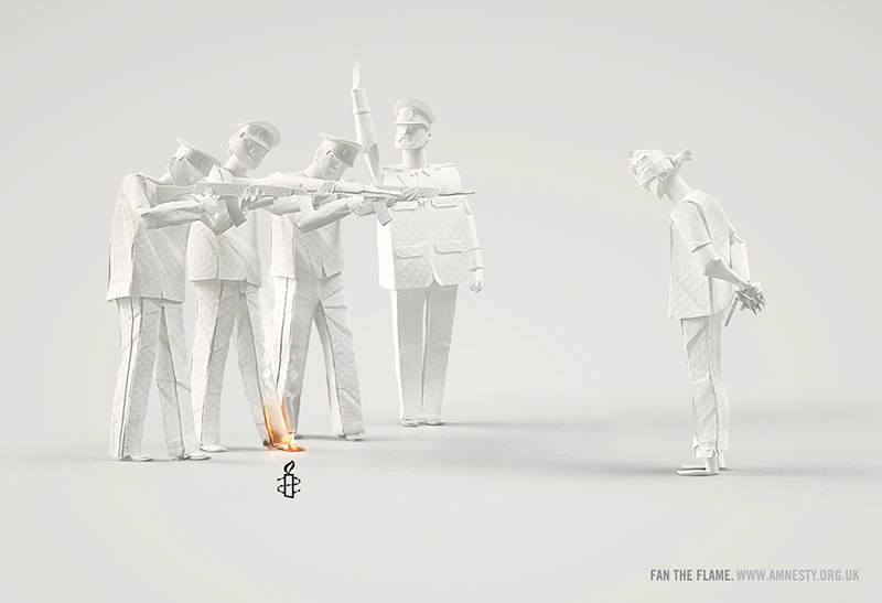 Publicité Amnesty International 2013 par Ogilvy & Mather - 2