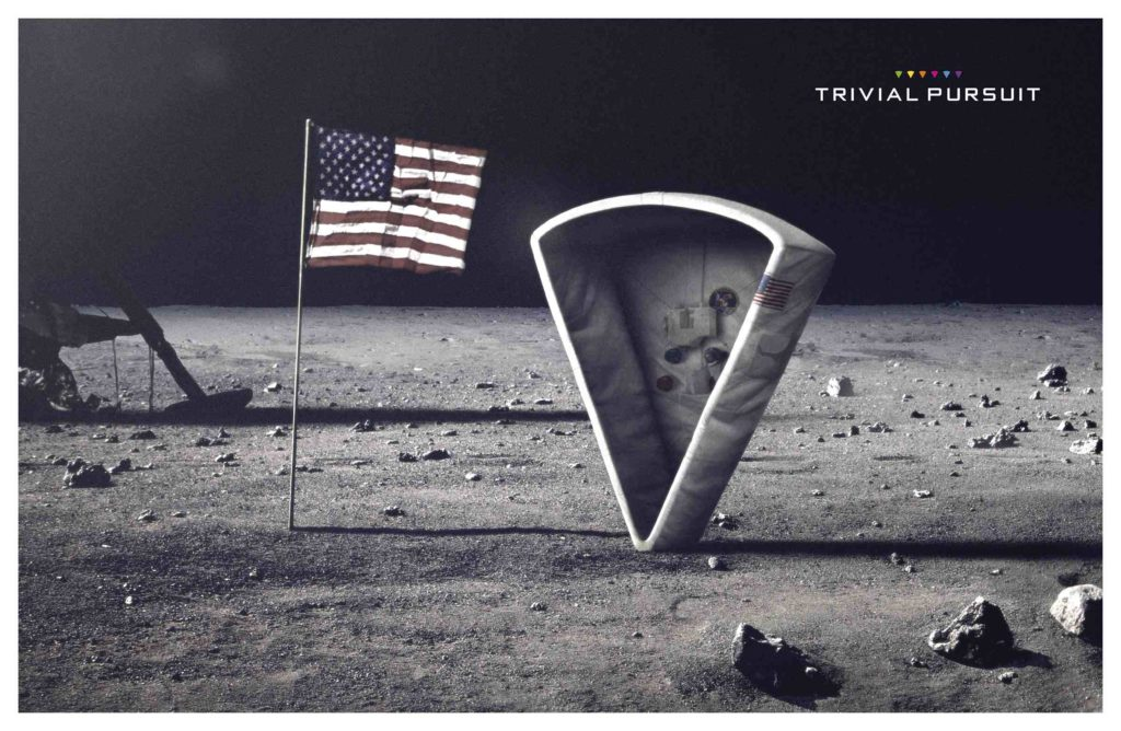 Affiche Trivial pursuit en 2014 par l'agence DDB