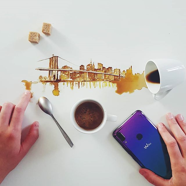 Ville à partir de tâches de café - Giulia Bernardelli