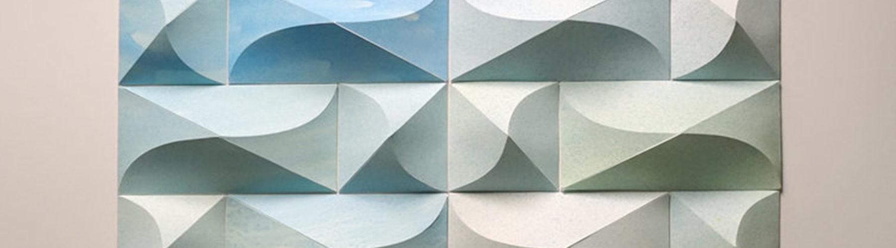 Matthew Shlian, sculpture en papier