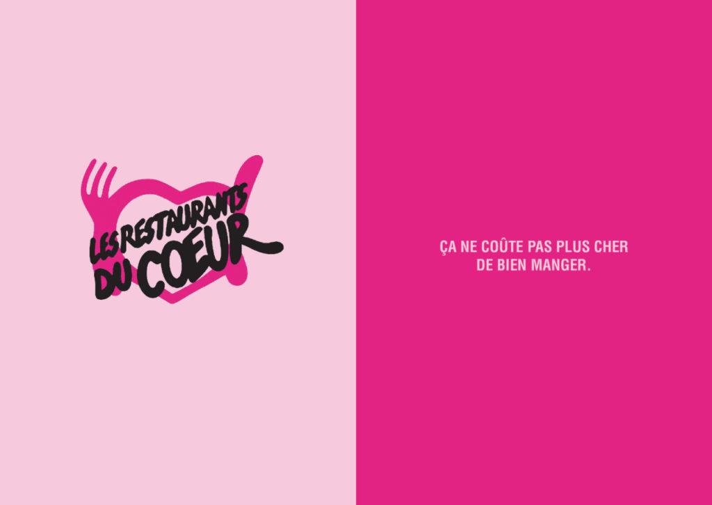 Mashup de publicité entre Les restos du coeur et Cafétéria Casino - Toutes des pubs