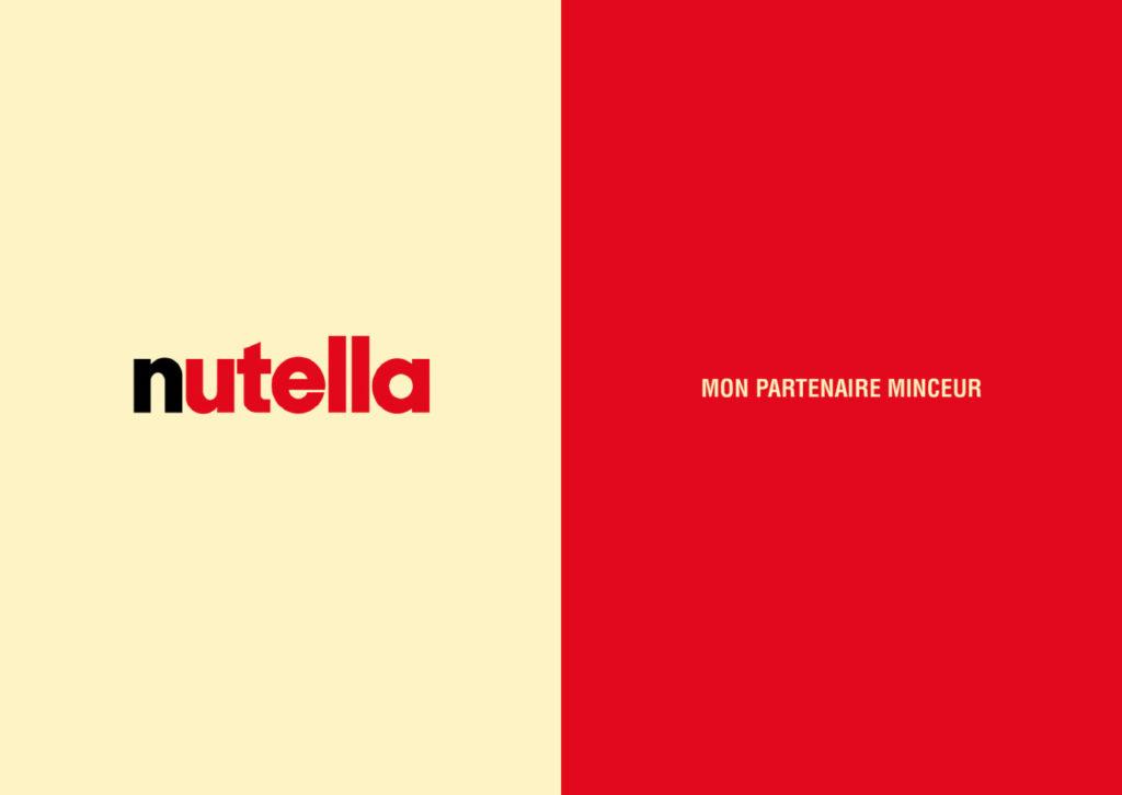 Mashup de publicité entre Nutella et Contrex - Toutes des pubs
