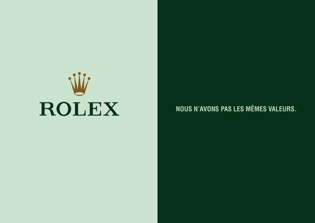 Mashup de publicité entre Rolex et Bordeau-Chesnel - Toutes des pubs