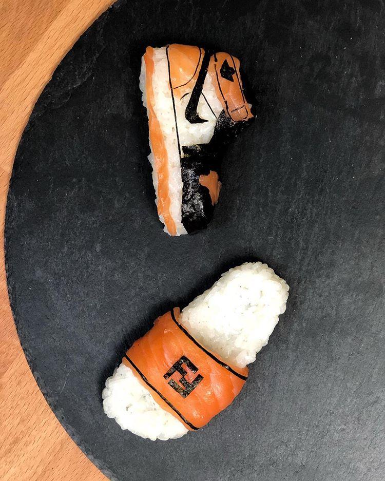 Des chaussures en sushi par Yujia Hu - 5