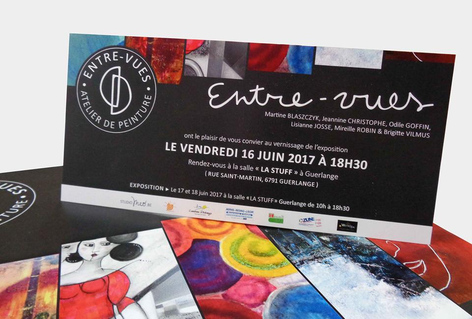 Entre-vues Exposition Carton d'invitation